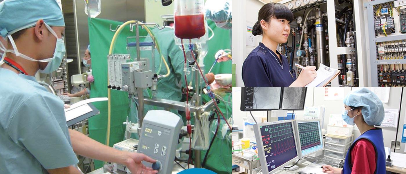 手術室の様子、医療機器など
