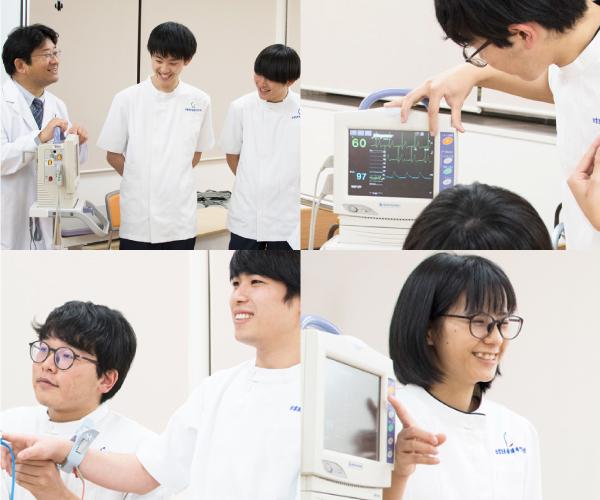 心電図体験授業